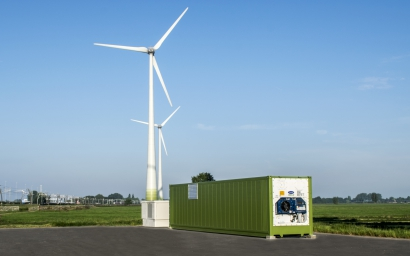 Wind power with energy storage
